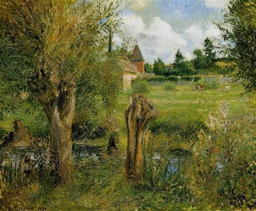Pissarro, Banks of the Epte at Eragny, 1884