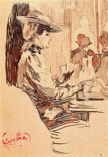 Women in the tavern - Frantisek Kupka
