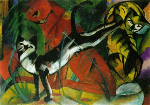 Franz Marc, expressionism, tanka, carpe diem haiku, creative writing