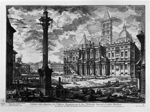 View of the facade of the Basilica of St. John Lateran - Giovanni Battista Piranesi