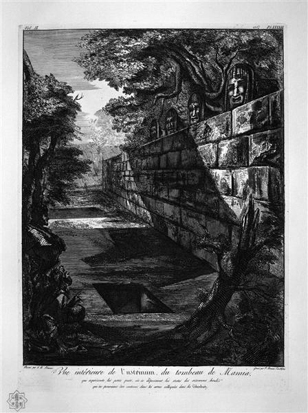 External view of the front door of the tomb aforesaid - Giovanni Battista Piranesi - WikiArt.org