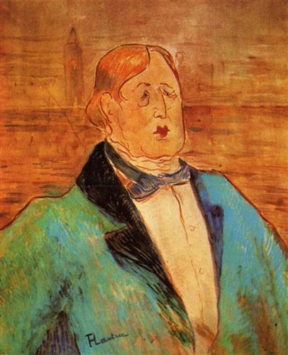 PortraitofOscarWilde - Henri de Toulouse-Lautrec