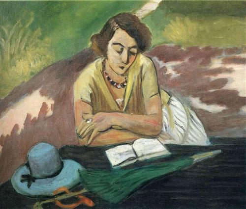 Reading Woman with Parasol  - Henri Matisse