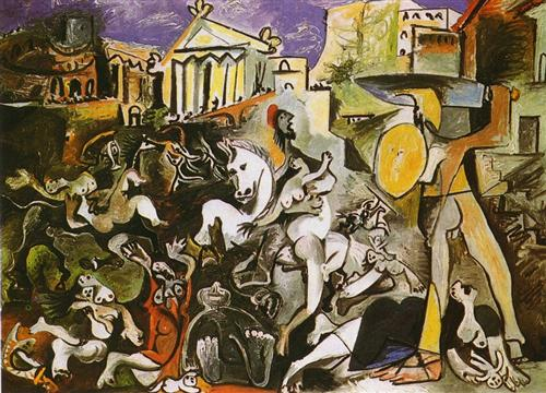 The Abduction of Sabines - Pablo Picasso