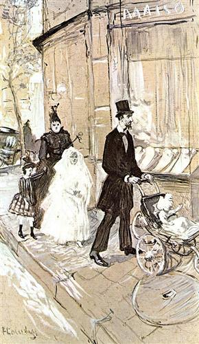 First Comunion - Henri de Toulouse-Lautrec