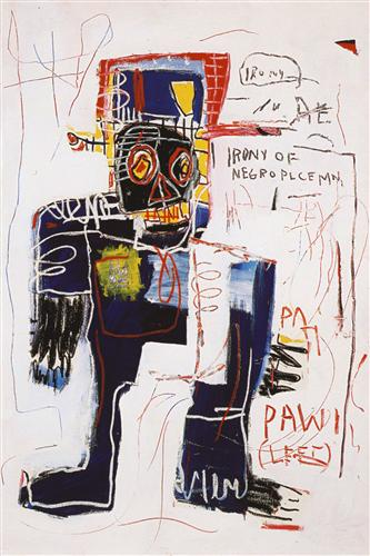 Irony of the Negro Policeman - Jean-Michel Basquiat