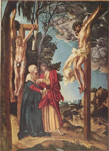 The Crucifixion - Lucas Cranach the Elder
