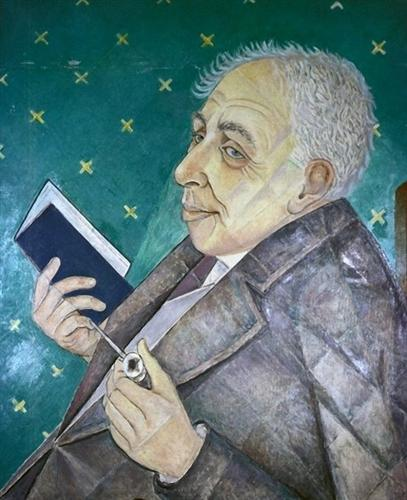 Portrait of Ilya Ehrenburg  - Marevna (Marie Vorobieff)