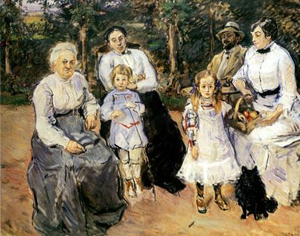 Slevogt family in the garden of Godramstein - Max Slevogt