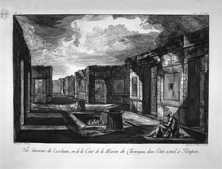 Split of the house aforesaid - Giovanni Battista Piranesi - WikiArt.org