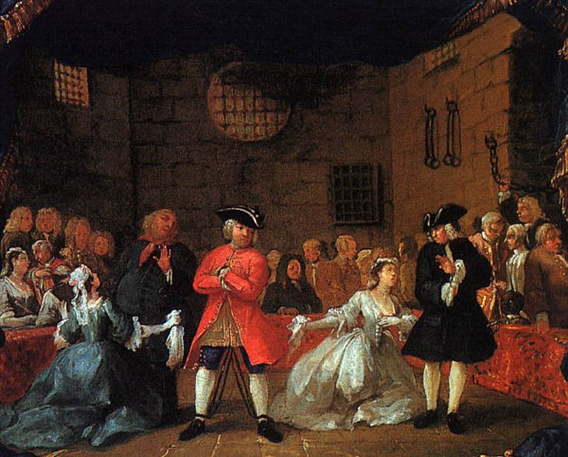 A Scene From The Beggars Opera 1728 1729 William