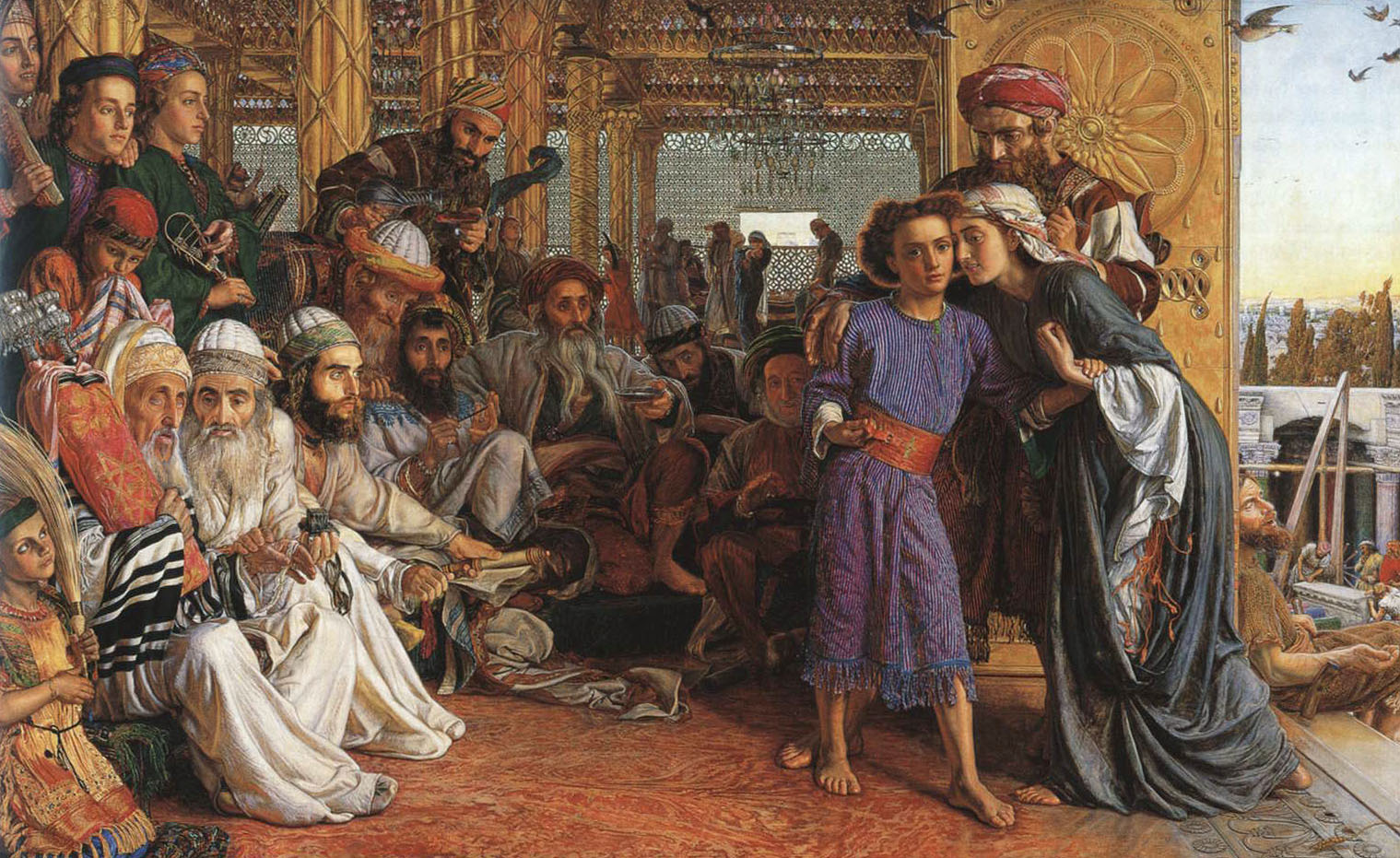 Image result for William Holman Hunt, The Finding of the Saviour in the Temple. 1854-1855