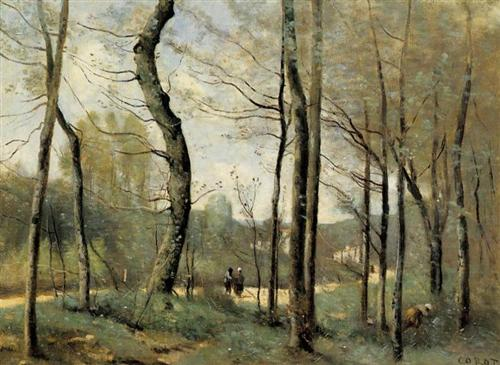 Corot, First Leaves, Near Nantes, c. 1855