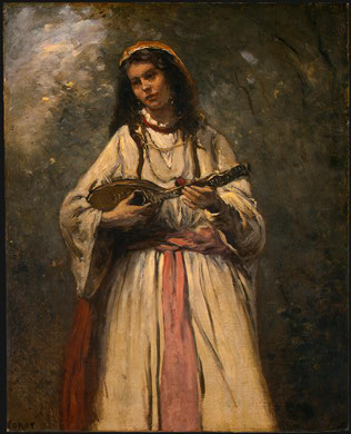 Gypsy Girl with Mandolin - Camille Corot