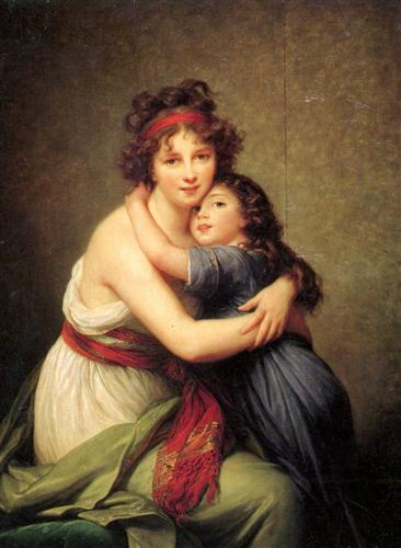 Madame Vigee Lebrun and her daughter, Jeanne Lucie Louise - Louise Elisabeth Vigee Le Brun