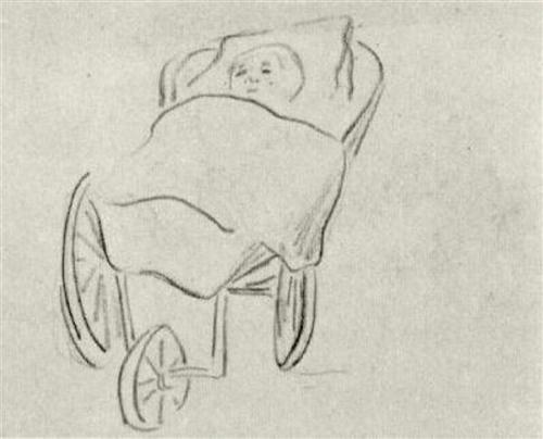 Baby in a Carriage - Vincent van Gogh