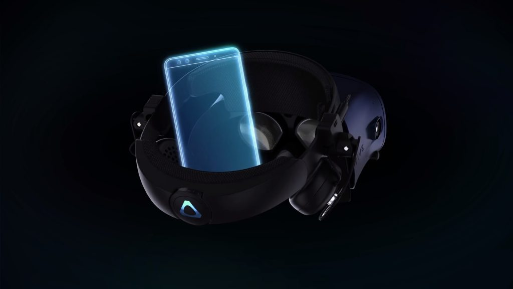vive cosmos phone attachment add on ces mockup