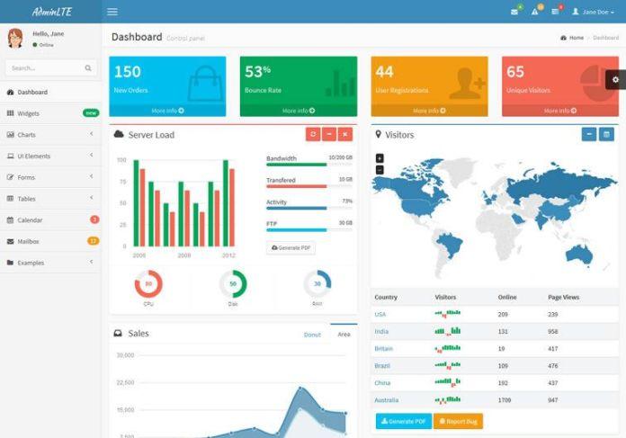 bootstrap admin theme 04 - 15 belos templates grátis para o seu admin em Bootstrap