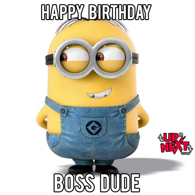 happy birthday boss meme minion