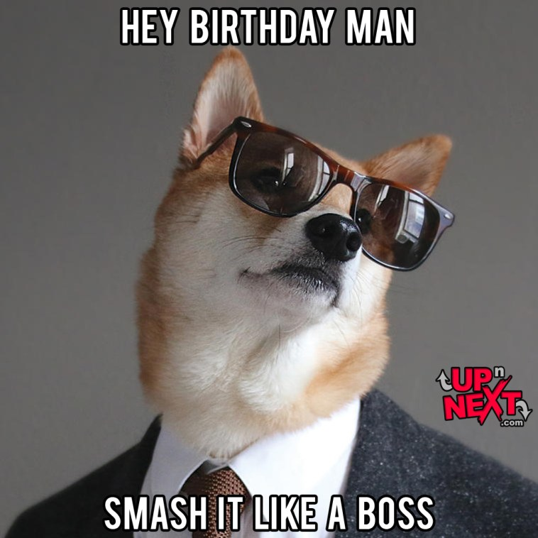 happy birthday boss man meme