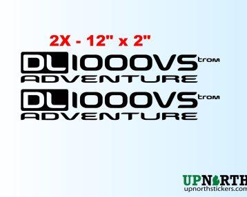 Vinyl Decal Set - Suzuki Vstrom DL1000VS Adventure Motorcycle - 2 DECALS - Free Shipping