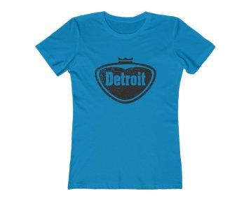 Women's Tee - Detroit - Pop Style Logo (Detroit Vintage Collection) - Detroit Michigan T-Shirt