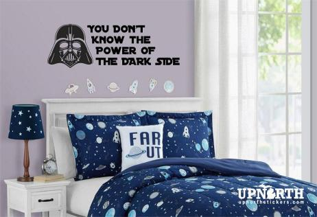 You Dont' Know the Power of the Dark Side - Custom Wall or Vehicle Vinyl Decal - Free Shipping