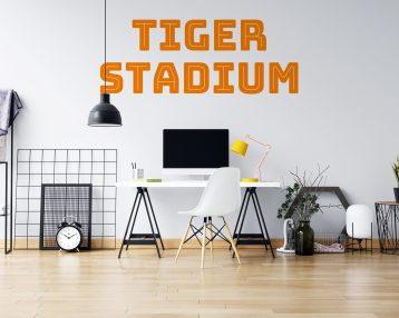 Tiger Stadium - Vinyl Wall Decal - Detroit Michigan - Free Customization