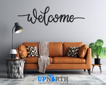 Welcome - Cursive Text - Custom Vinyl Wall or Vehicle Decal - Free Shipping