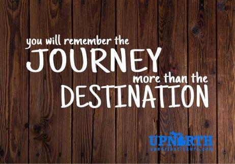 You will Remember the Journey more than the Destination - Vinyl Wall Decal - Free Customization