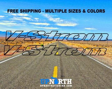 V-STROM - New Outline Style - 2 DECAL SET - Multiple Colors and Sizes - Free Shipping - Suzuki Vstrom