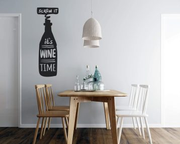 Screw it - Its Wine Time - Vinyl Wall Decal - Free Shipping