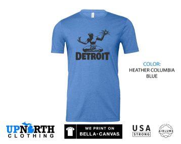 UpNorth Tee - Spirit of Detroit - Detroit Michigan Shirt - Free Shipping