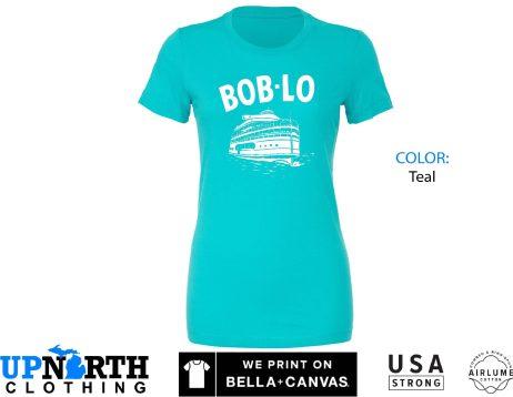 Women's Tee - Boblo Boat - Bob-Lo Boat (Michigan Vintage Collection) - Bob-Lo Boat - Detroit Michigan - Free Shipping