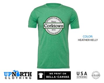UpNorth Tee - Corktown Detroit - Detroit Michigan Shirt - Corktown Sign - Free Shipping