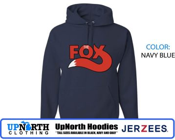 UpNorth Hoodies - The Fox 99.5 Vintage Detroit Radio Station - Hooded Pullover Sweatshirt -  Tall Sizes Available