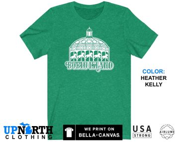 UpNorth Tee - Boblo Island Carousel - Detroit Michigan - Boblo Amusement Park Shirt - Free Shipping