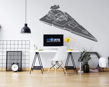 Star Destroyer - Custom Wall or Vehicle Vinyl Decal - Free Shipping