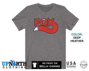 UpNorth Tee - Fox Radio Detroit (Vintage Print) - Vintage Detroit Radio Station - 99.5 The Fox - Free Shipping