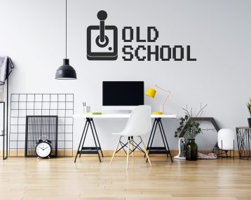Old School Gamer - Game Controller - Custom Vinyl Wall Decal - Free Shipping