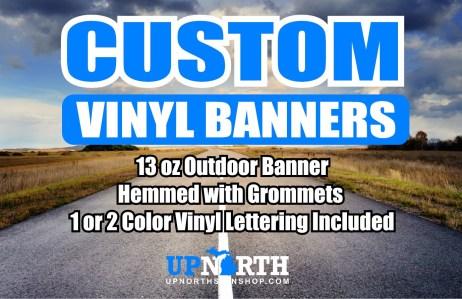 """Custom Vinyl Banner - 13oz Banner - 36"""" Tall"""