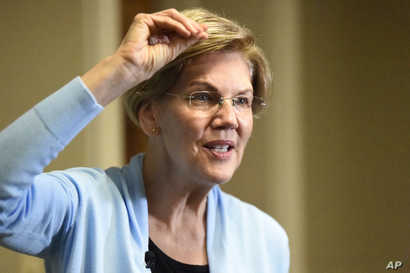 Democratic presidential candidate Elizabeth Warren speaks during an interview with The Associated Press, Dec. 8, 2019, in Charleston, S.C.