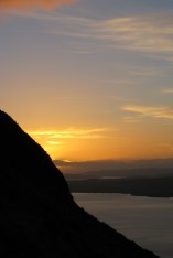 steep side of conic hill