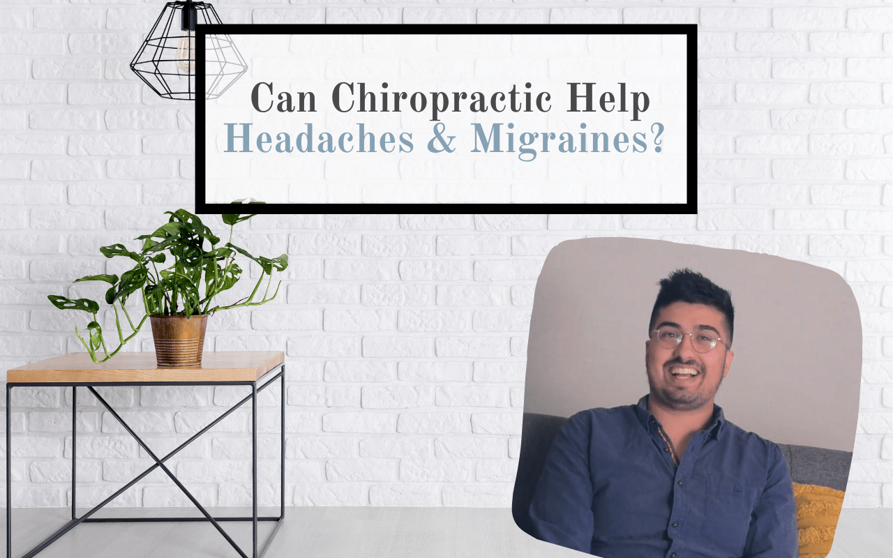 table plant man smiling migraine chiropractic