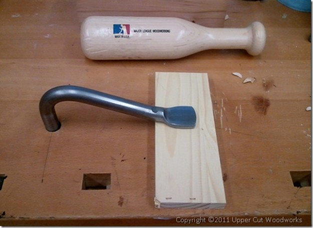Upper Cut Woodworks Grammercy Holdfast Fits in Bench Perfectly