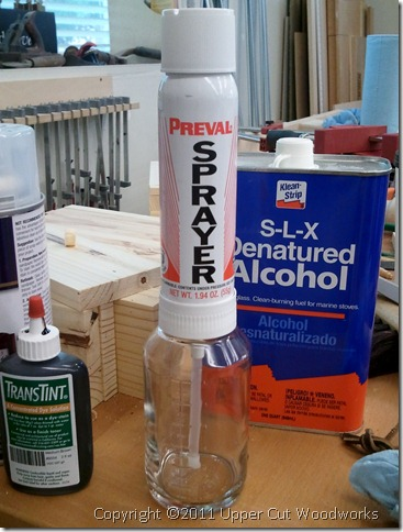 Upper Cut Woodworks Preval Mini Transtint Tinting Setup