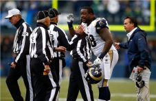 Here's Kendall Langford yelling at referees. Photo by Jonathan Ferrey/Getty Images.