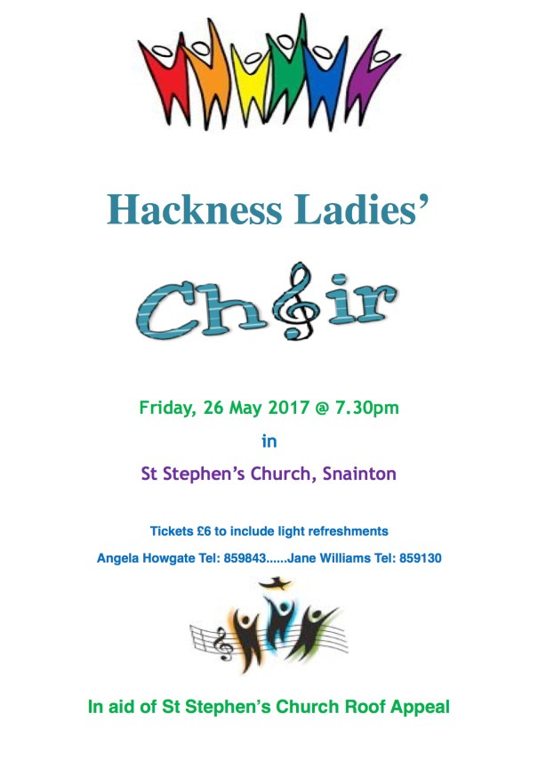 Poster - Hackness Ladies Choir - May 2017