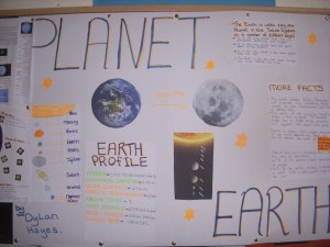 A great effort by Dylan on Planet Earth- Well done Dylan!