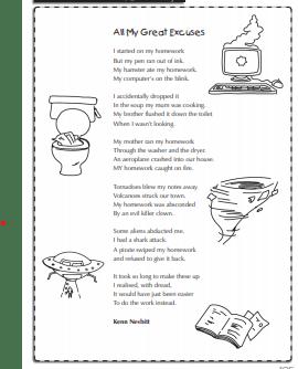 Bank holiday poem
